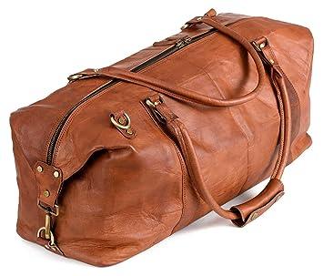 2967de80ba1a4 Berliner Bags München XL Weekender Reisetasche Handgepäck Sporttasche  echtes Leder Damen Herren Vintage Braun I 55x40x20