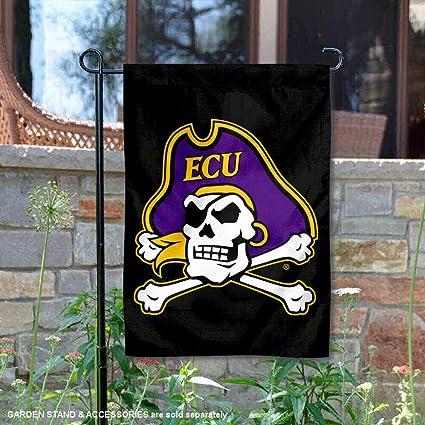 Amazon.com: East Carolina piratas negro ECU pirata bandera ...