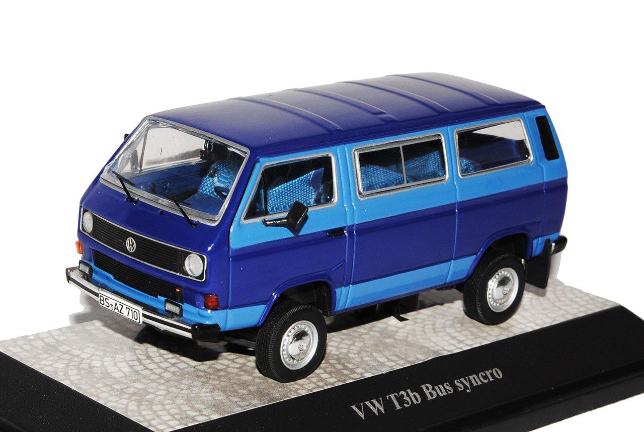 Premium ClassiXXs Volkwagen T3B Transporter Personen Syncro Blau 1979-1992 mit 1/43 Modell Auto mit 1979-1992 individiuellem Wunschkennzeichen 7d58c5