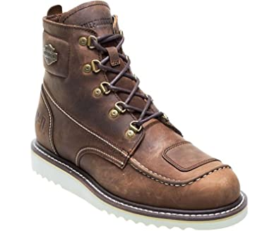 64e021ac21c Harley Davidson Hagerman Mens Brown Leather Biker Boots Lace up ...