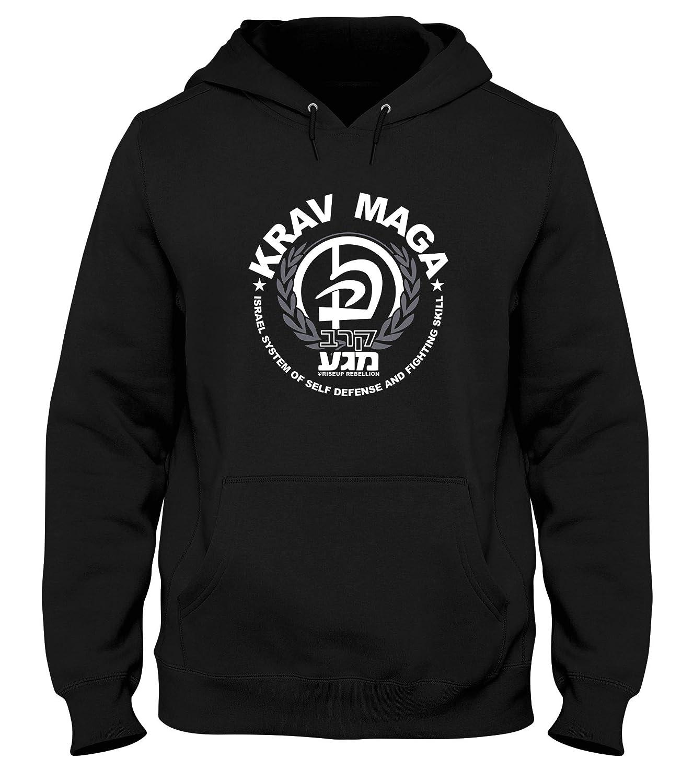 9eb1f2716363 Sweatshirt a Capuche Noir T0643B Krav MAGA Arti Marziali