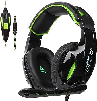 SUPSOO G813 Auriculares para Juegos Xbox One PS4 3.5 mm con Cable Over-Ear Control de Volumen del micrófono con Aislamiento de Ruido para Mac/PC/Laptop / PS4 / Xbox One: Amazon.es: Electrónica