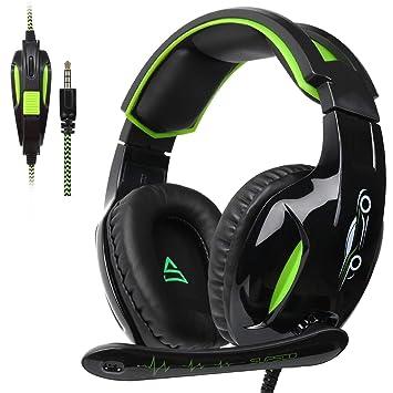 2daf37609b5 SUPSOO G813 Auriculares para Juegos Xbox One PS4 3.5 mm con Cable Over-Ear  Control
