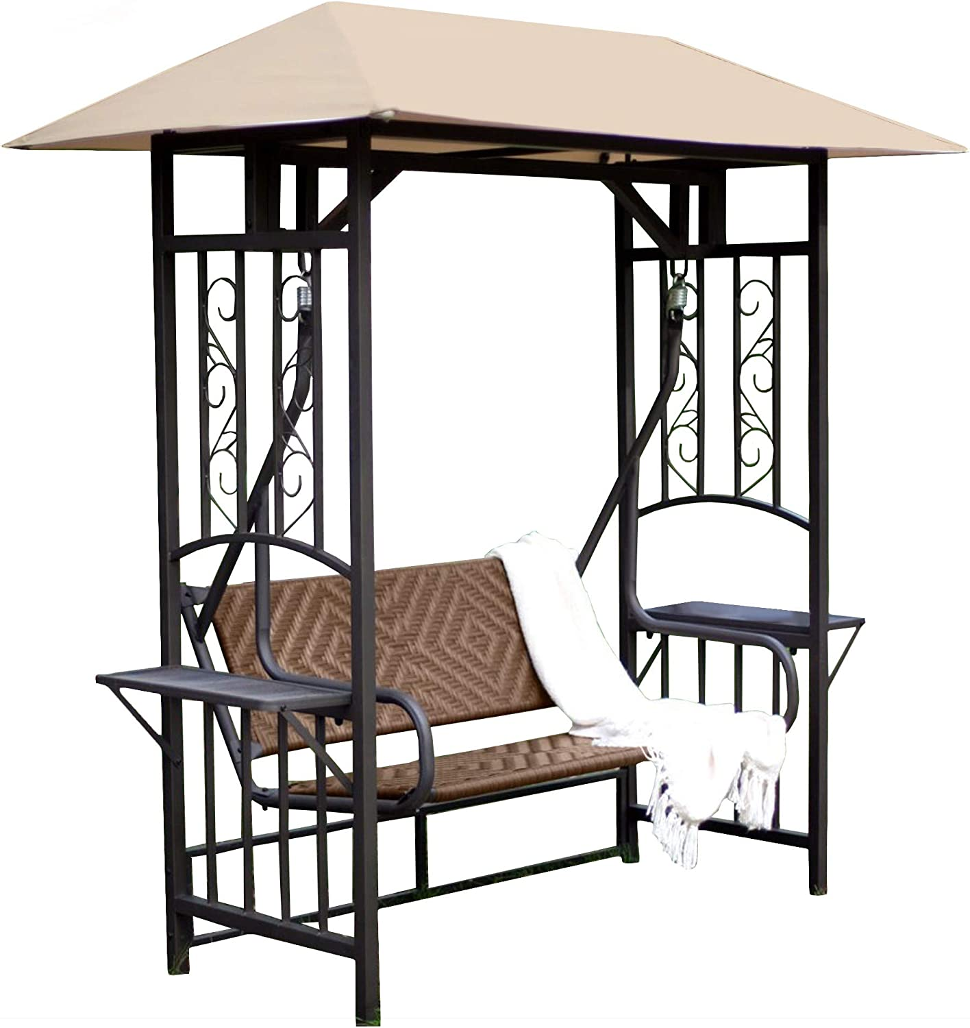 Garden Winds Replacement Canopy Top Cover for The Coral Coast Bellora Gazebo Swing - Standard 350