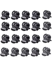 Ladies Girls Mini Small Plastic Hair Clips Claws Pins Clamps Hairpin Black - 20 Piece