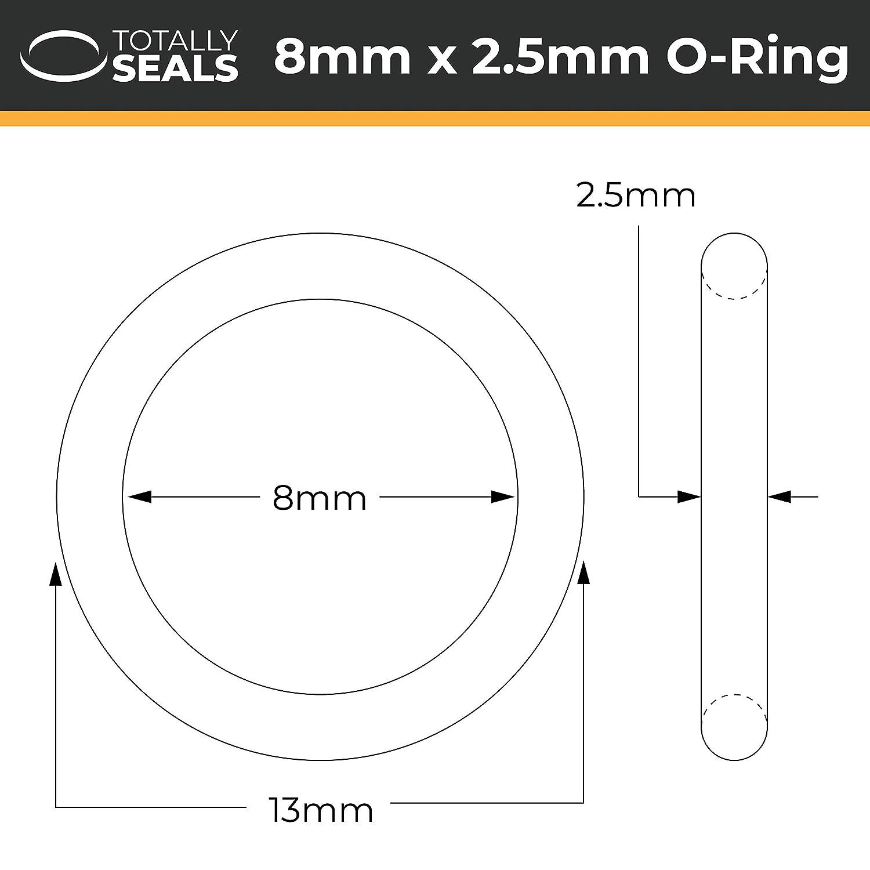 Choisissez la taille du paquet Duret/é Shore 70A Joints toriques en caoutchouc nitrile de 9 mm x 2,5 mm diam/ètre ext/érieur 14 mm