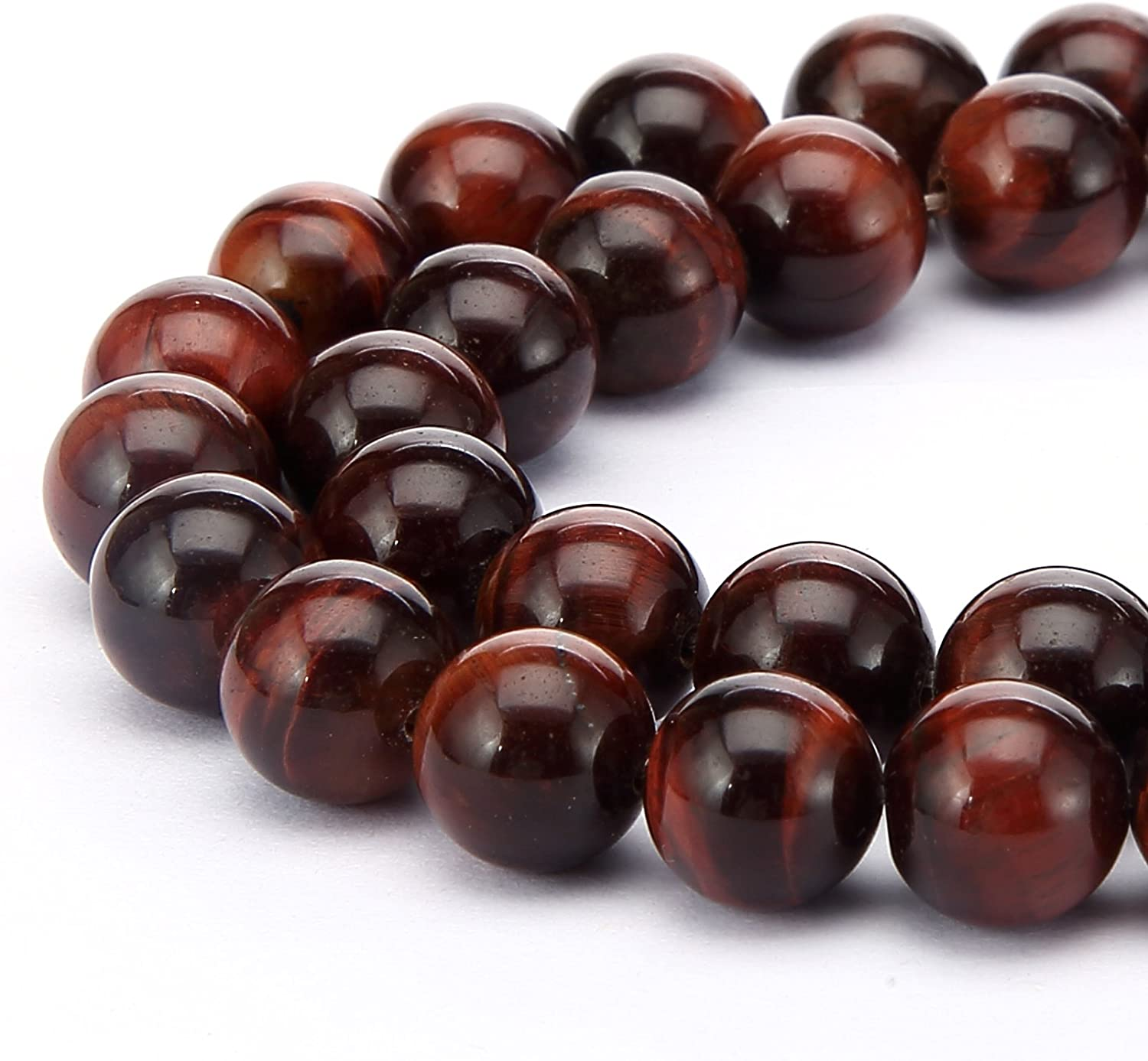 BRCbeads Gorgeous Natural Red Fire Agate Gemstone Round Loose Beads 4mm Approxi 15.5 inch 88pcs 1 Strand per Bag for Jewelry Making