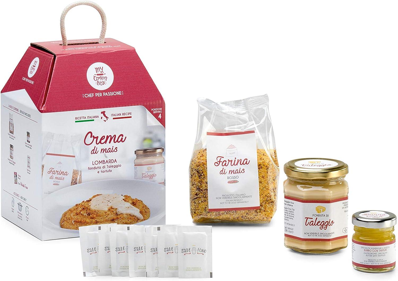 CREMA DI MAIS CON TALEGGIO E TARTUFO My Cooking Box x4 Porzioni - Idea Regalo