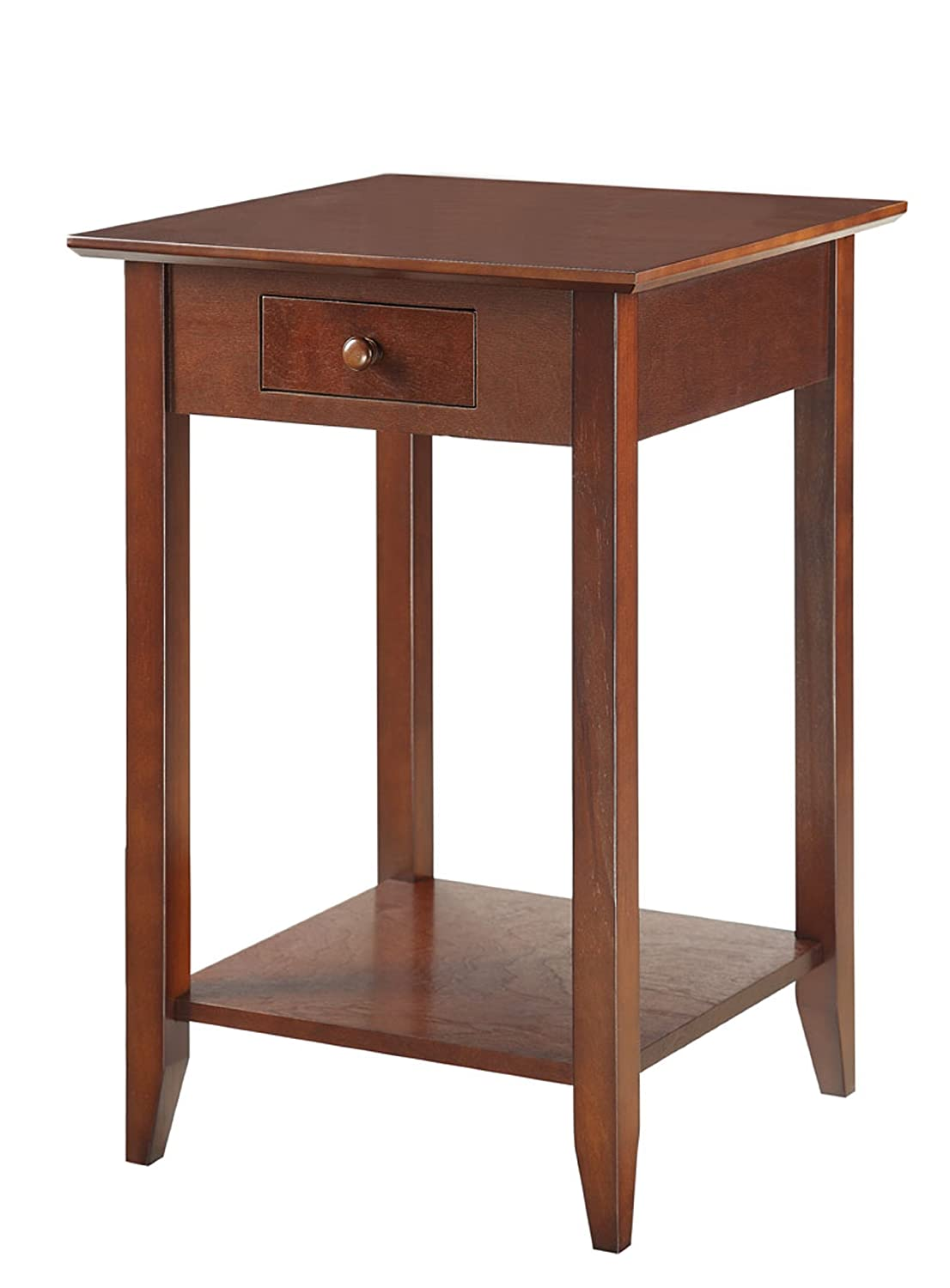 End table with drawer - Amazon Com Convenience Concepts American Heritage End Table With Shelf And Drawer Espresso Kitchen Dining