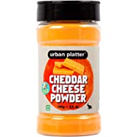 Urban Platter Cheddar Cheese Powder Shaker Jar, 100g / 3.53oz [Perfect for Pop-Corn, Making Cheese Sauce for Nachos, Sprinkling on French Fries]