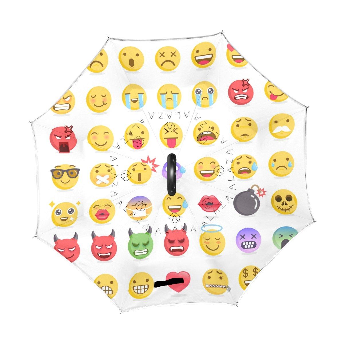 57277842abc9 Amazon.com : My Daily Double Layer Inverted Umbrella Cars Reverse ...
