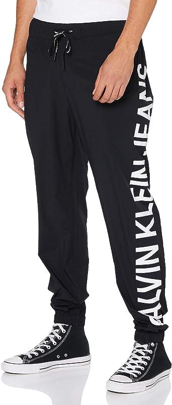 Calvin Klein Stretch Logo Nylon Trackpant Pantalones para Hombre