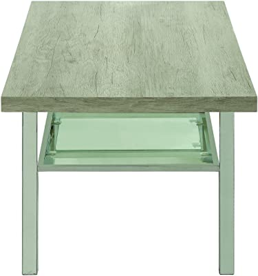 Coaster 720778-CO Coffee Table, Light Grey/Chrome