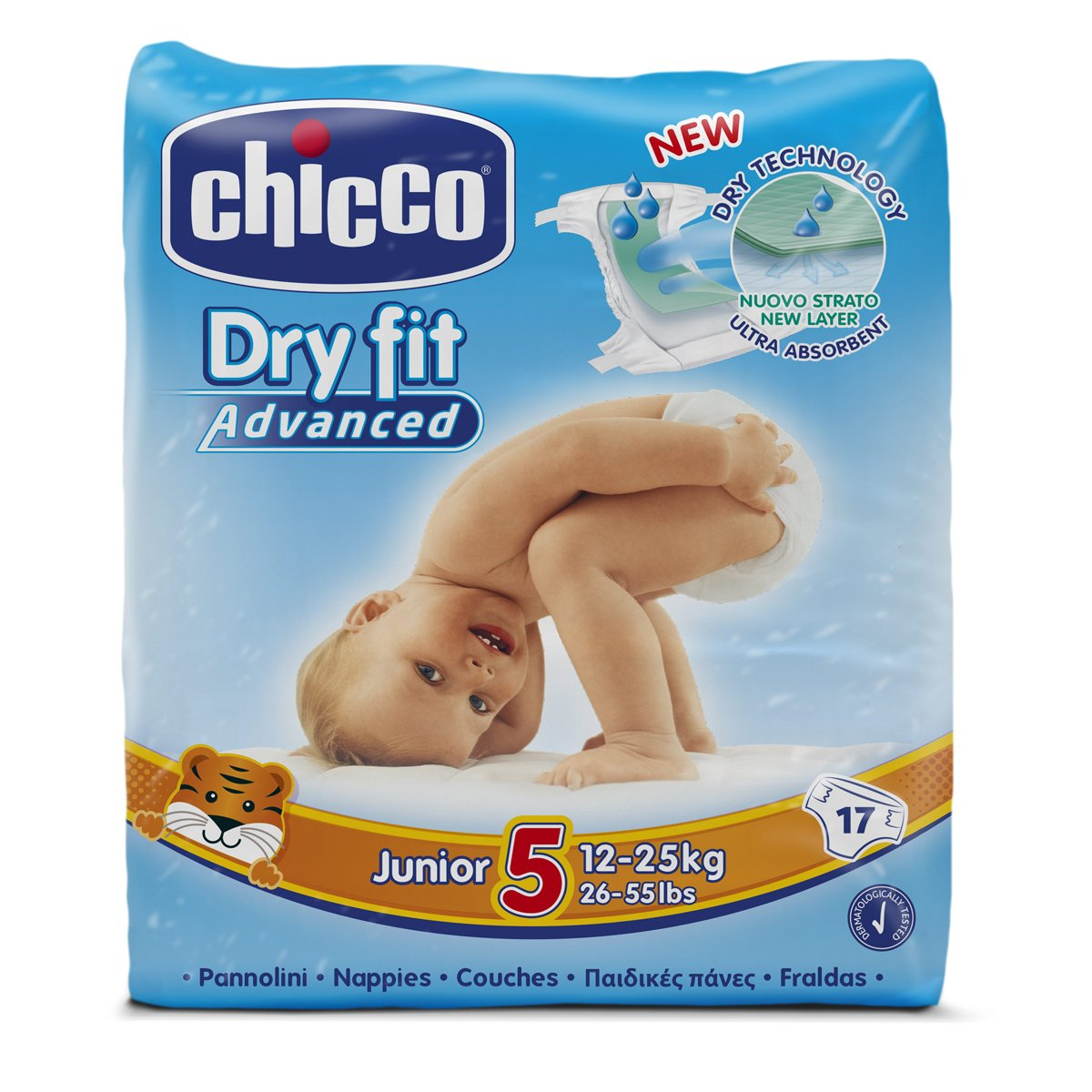 Chicco Dry Fit Advanced Set of 25 Mini Size 2 Nappies 00007171000000