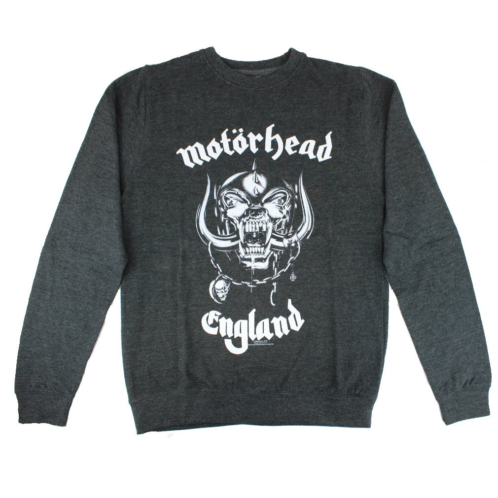 Band Merchandise Motorhead Herren Pullover - England Sweatshirt schwarz-grau