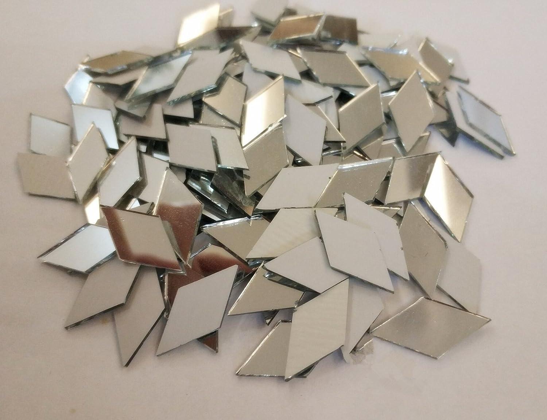 Diamant-Form Zubeh/ör Heimdekoration Basteln Spiegelglas RUIXUAN Mosaikfliesen