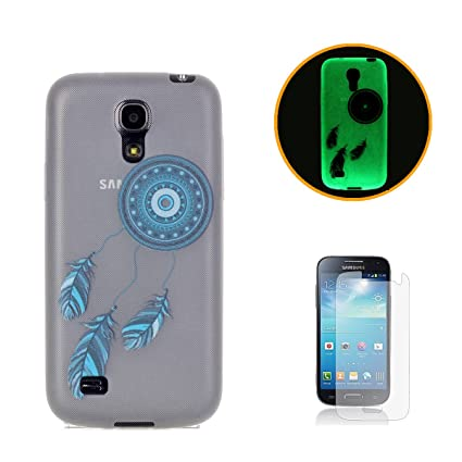 CaseHome Compatible with Case Samsung Galaxy S4 Mini Luminoso Funda Transparente Claro Suave Flexible Caucho Parachoque Gelatina Gel de Silicona TPU ...