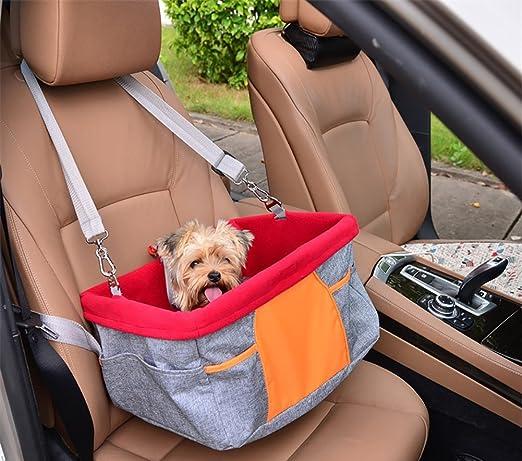 Asiento del Coche de Seguridad para Mascotas Perro Gato Lavable Viaje Bolsas y Otra Mascota Pequeña Bolsillo: Amazon.es: Productos para mascotas