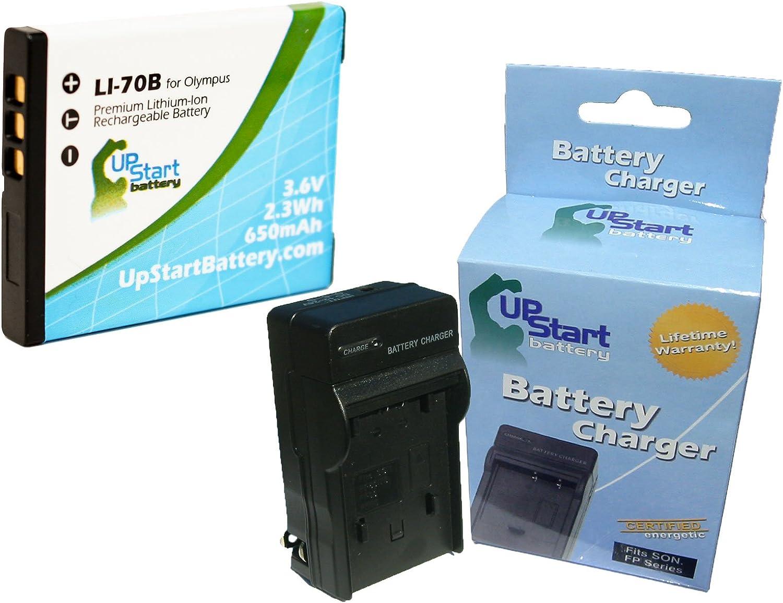 Li-70B Batería Cargador de coche//principal para Olympus FE-4020 FE-4040 X-940 Li70B