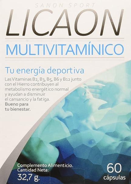 Sanon Sport Licaon, Complemento Alimenticio, Multivitamínico, 60 Cápsulas, 32,7 g