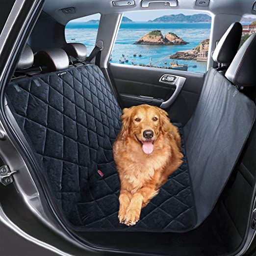 Black Water Resistant Rear Car Seat Dog Pet Cover for Vauxhall Meriva All Models