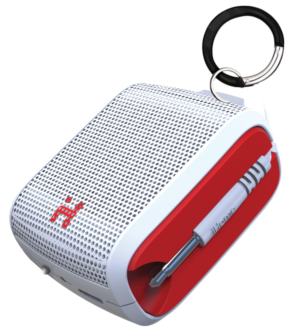 iHome iM54WRC Rechargeable Mini Speaker(White/Red) by iHome