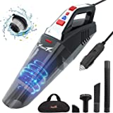 Car Vacuum, Portable Vacuum Cleaner for Car, 12V High Power Corded Handheld Vacuum with 16.4ft Power Cord, Car Vac for…