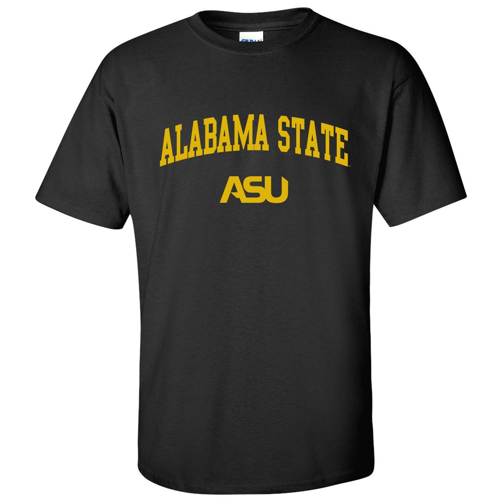 AS03 - Alabama State University Hornets Arch Logo T-Shirt - Large - Black