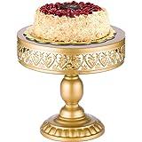 URANMOLE 18K Gold Antique Metal Cake Stand, Round Cupcake Stands, Wedding Birthday Party Dessert Cupcake Pedestal…