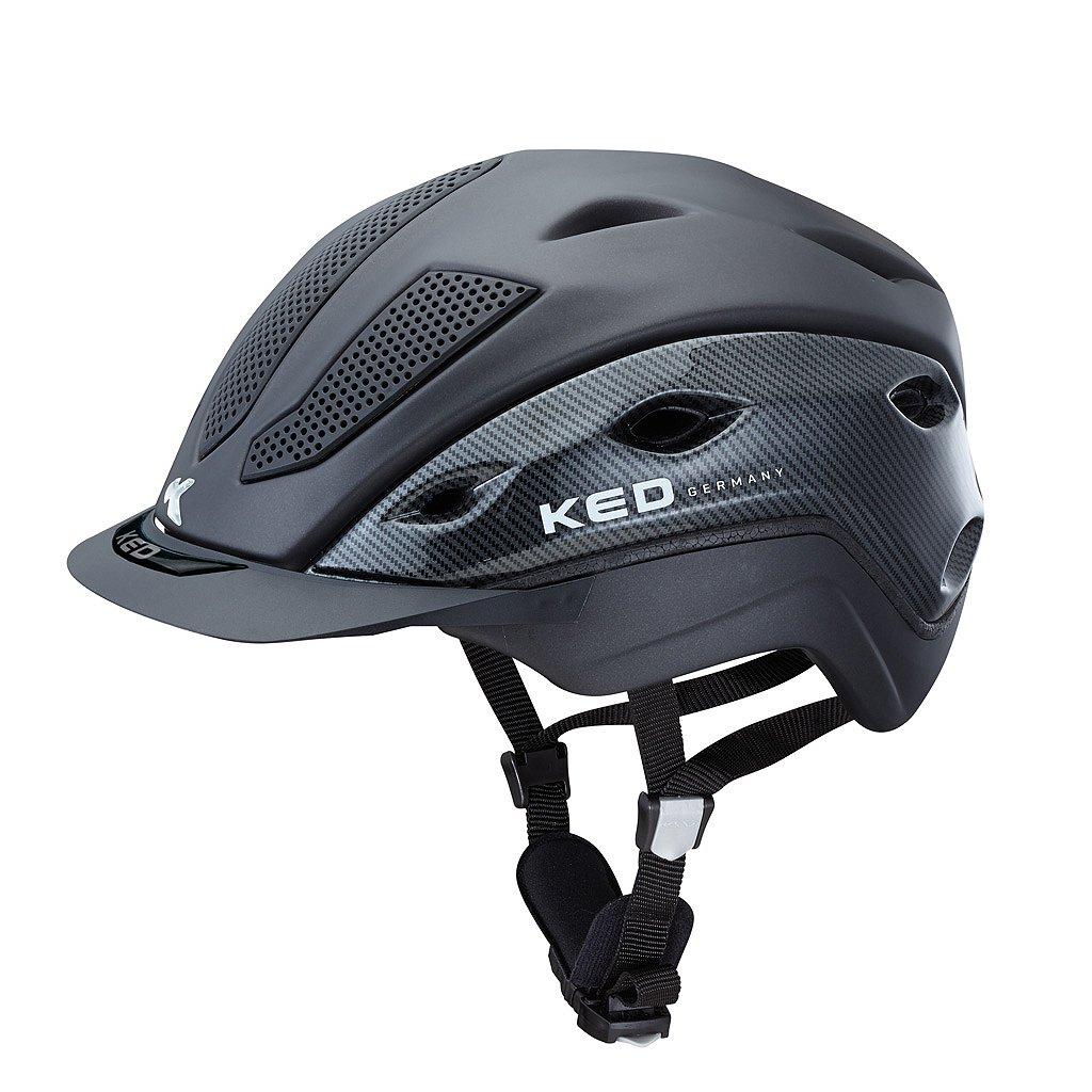 KED - Casco de equitación xilon Carbon Antracita Mate, talla L=56 - 61 cm stufenlos verstellbar| hípica - sportiver - Casco de equitación de sistema de ...