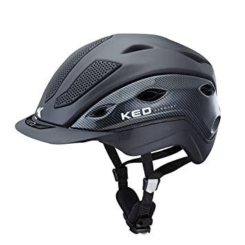 KED – Casco de equitación xilon Carbon Antracita Mate, talla L=56 – 61
