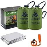 Mezonn Emergency Sleeping Bag Survival Bivy Sack Use as Emergency Blanket Lightweight Survival Gear for Outdoor Hiking…