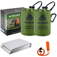Mezonn Emergency Sleeping Bag Survival Bivy Sack Use as Emergency Blanket Lightweight Survival Gear for Outdoor Hiking…