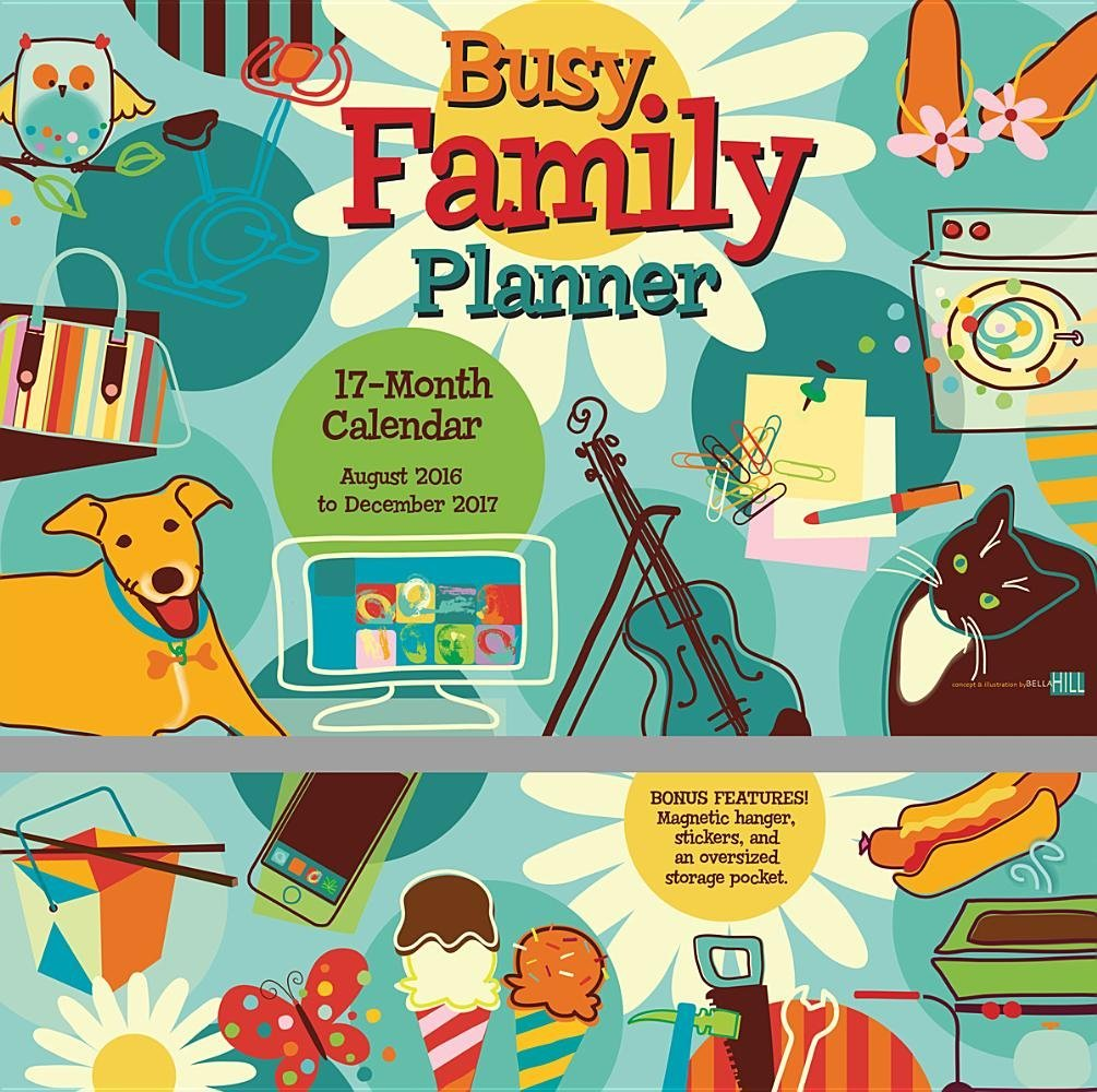 Busy Family Planner 2017 Wall Planner Calendar: Sybille Lichtenstein:  9781416243618: Amazon.com: Books
