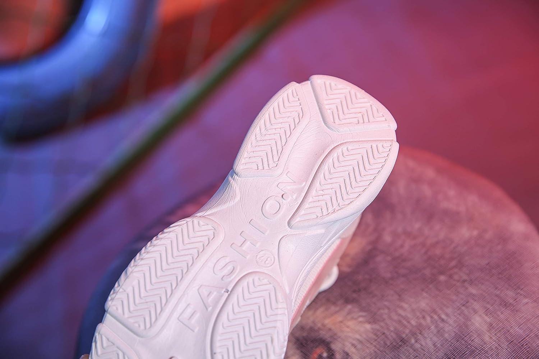 Vansney Damen Chunky Dad Sneakers PU Leder und Mesh im Patchwork-Kontrast und Mesh-Design f/ür Wandern und Reisen Abriebfest Rutschsicher Atmungsaktiv Laufschuhe