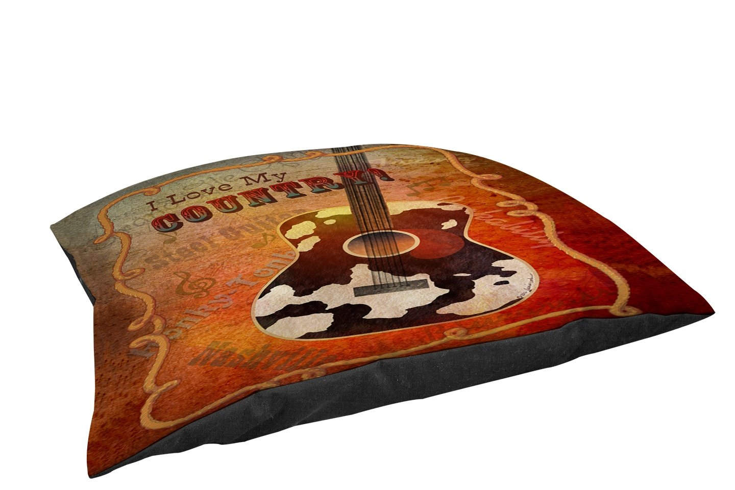 Manual Woodworkers & Weavers Fleece Top Toy or Small Breed Pet Bed, Guitar, Multi colord