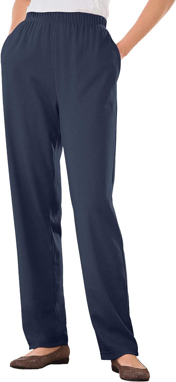 Woman Within Women's Plus Size 7-Day Knit Straight Leg Pant