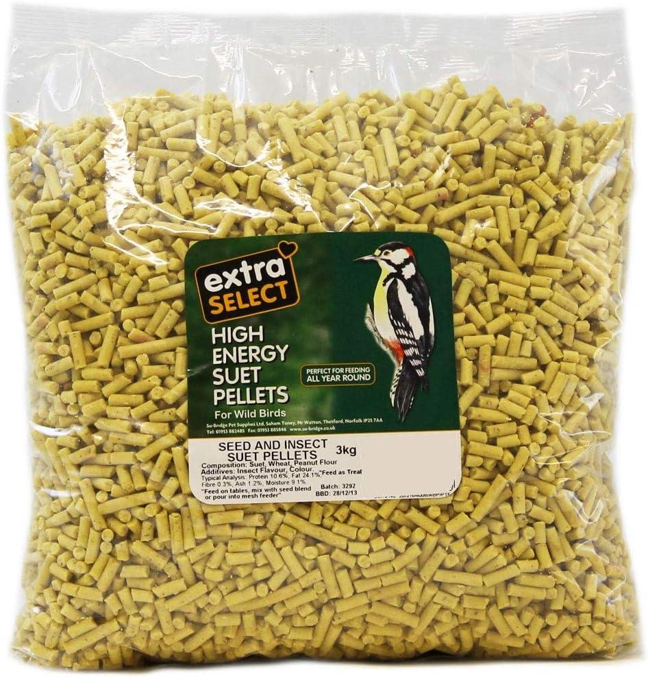Extra selecto de alta energía de pellets de ante de insectos Relleno Wild Bird Treat, 3 kg