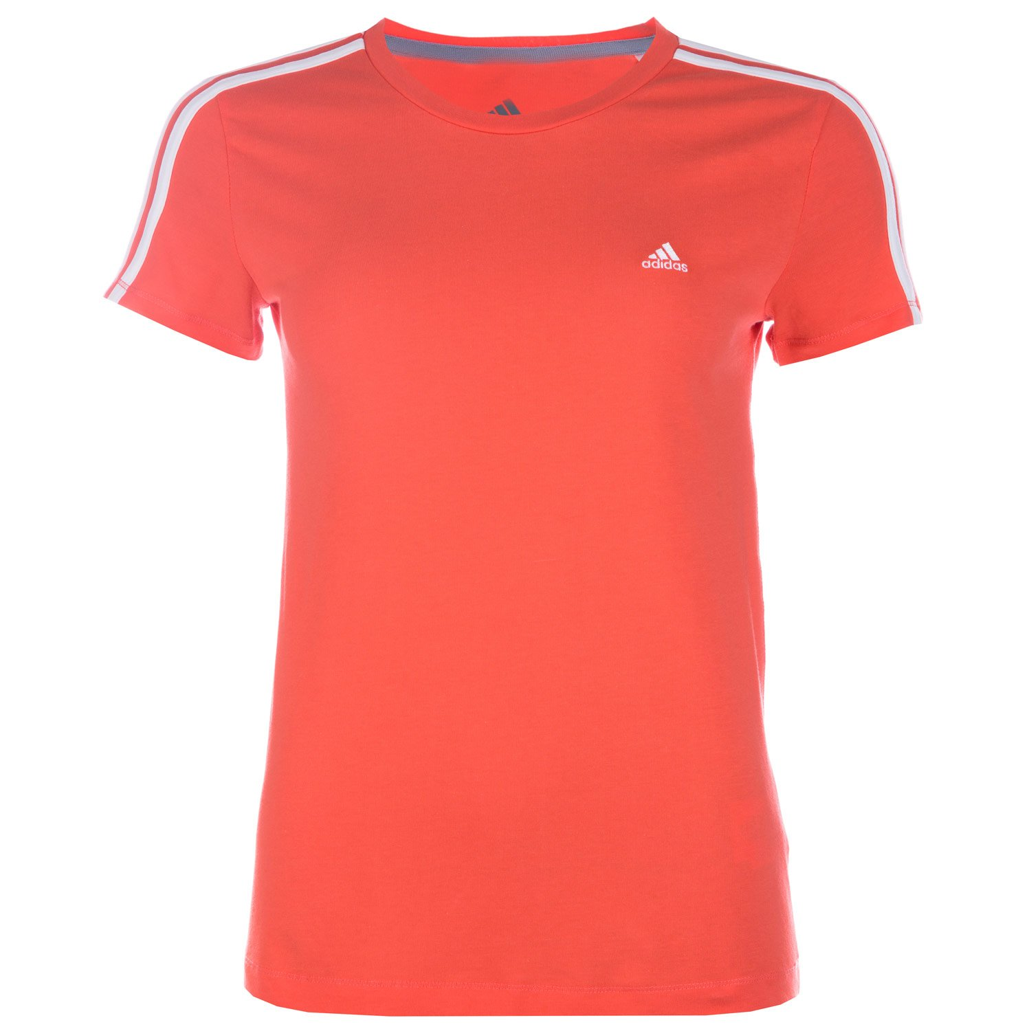 adidas Womens Essentials 3S T-Shirt in Coral- Built with Climalite Fabric That W