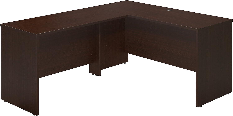 Bush Business Furniture Series C Elite 60W x 24D Desk Shell with 48W Return in Mocha Cherry