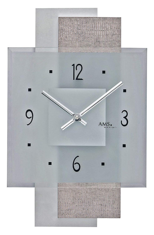 モダン壁時計 クォーツ式 AMS社  AM W9442   B00IOPK71U