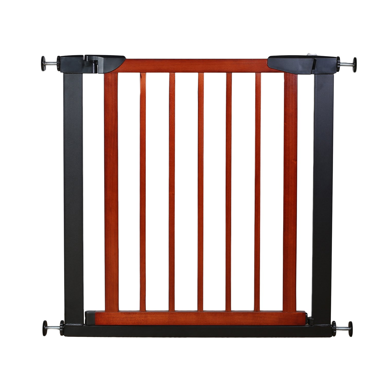 Fairy Baby Pet Baby Gate Narrow Extra Wide for Stairs Metal and Wood Pressure Mounted Safety Walk Through Gate,Fit Spaces Between 29.53 -32.28 3-7 Days Delivered