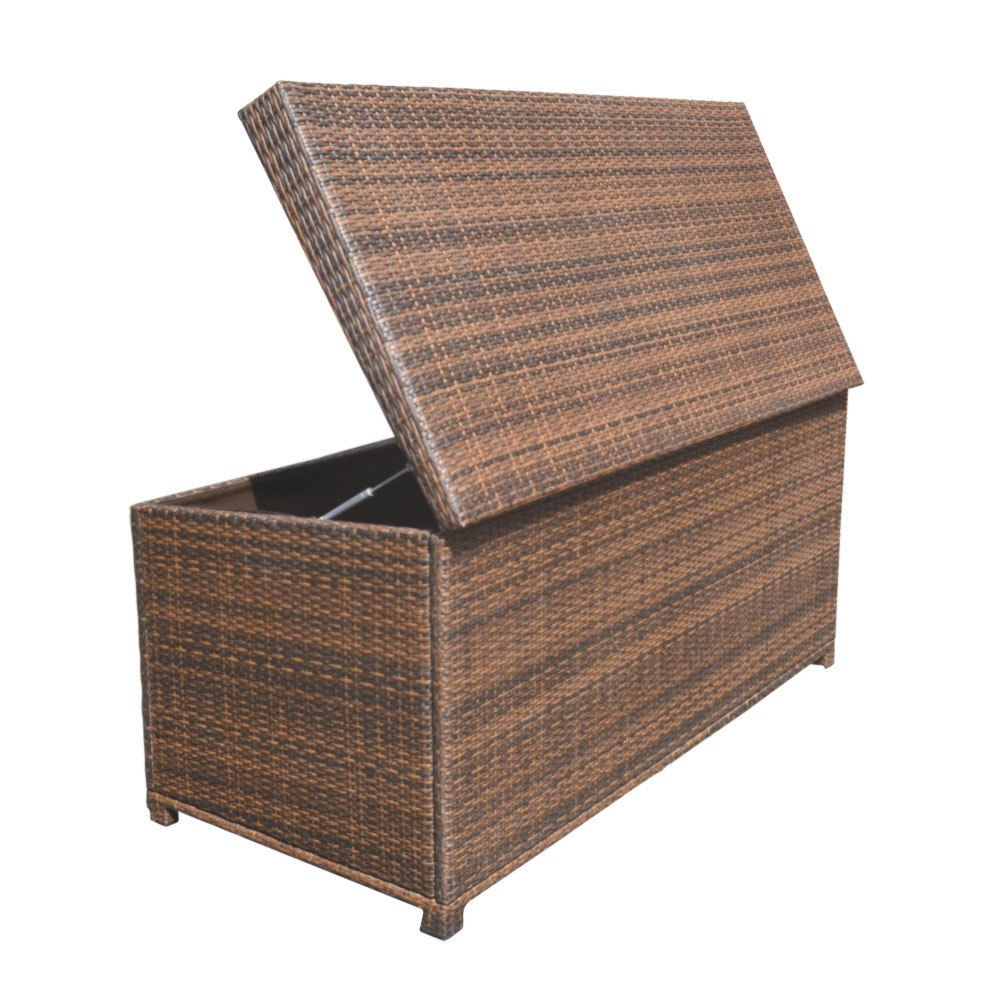 Style 2 ESPRESSO 64'' x 30'' x 30'' Large Wicker Storage Box Chest Deck Poolside Storing Patio Case by Generic (Image #5)