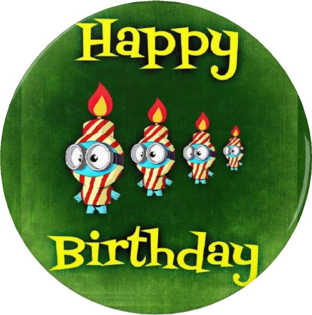 Feliz cumpleaños vela Minions imán celebrar partido Cute ...