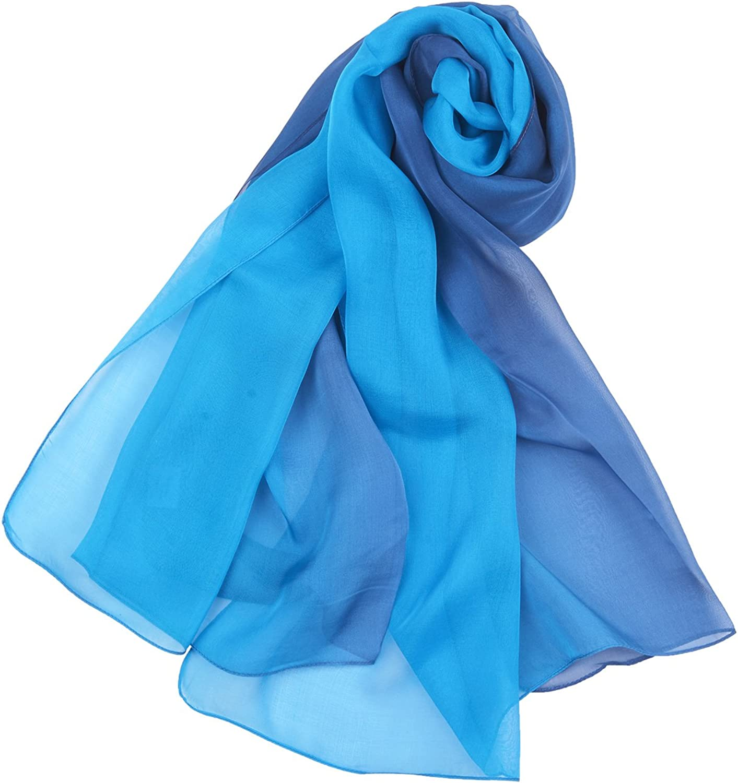 Heyjewels Damen 100/% Seiden Schal Elegante Stola Halstuch Tuch Chiffon Luxuri/öse Modisch Accessoire Party Fr/ühling Sommer 180 x 68cm