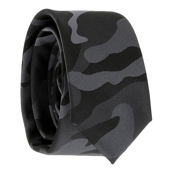 magasin en ligne nouvelle arrivee magasin en ligne Cravate Militaire Noire et Grise - Cravate Camouflage Armée