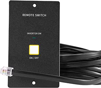 Kinverch 2000W Power Inverter Remote On/Off Switch with 20 Ft Cable