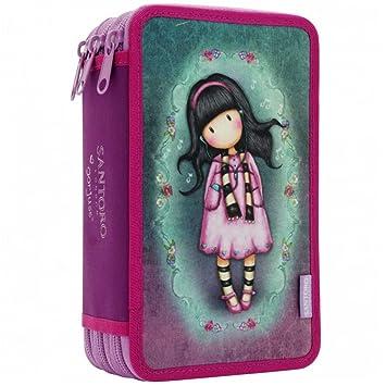 0ae016959 Santoro Gorjuss Triple Zip Filled Pencil Case - Little Song: Amazon.co.uk:  Luggage
