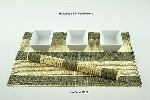 Vietnam Homeware set de 6 manteles individuales de mesa, de madera ...