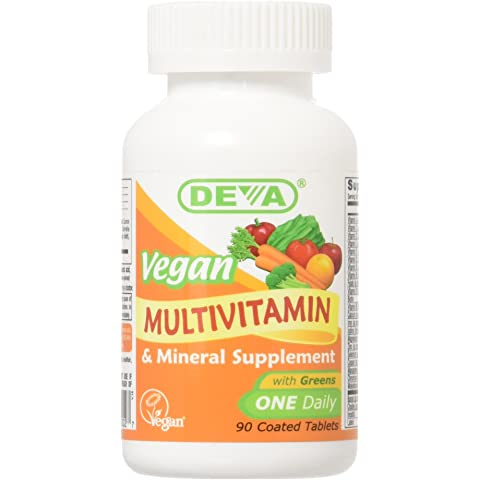 Deva Vegan Vitamins Daily Multivitamin & Mineral Supplement 90 tablets (Pack of ...